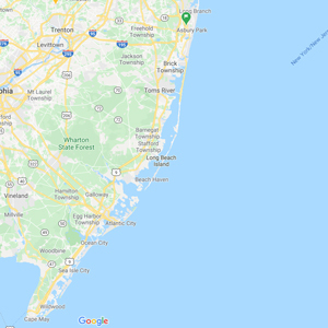 New Jersey - Search by map